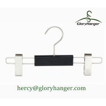 Black Child Plastic Trousers Hanger with Two Clip
