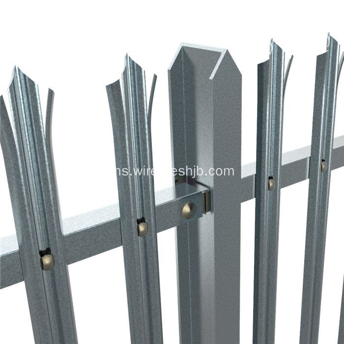 W Bahagian Triple Pointed Security Palisade Fencing