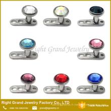 Gros piercing bijoux G23 Titanium Dermal Anchor piercing
