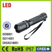 IP67 imperméabilisent la lampe-torche de police portative en aluminium rechargeable de LED