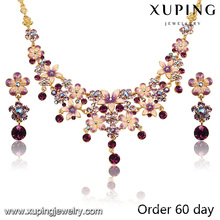 S-7-Xuping Wholesale fashion jewelry african gold plating jewelry set
