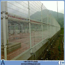 hot dipped galvanized or powder coating double loop welded wire mesh fence factory