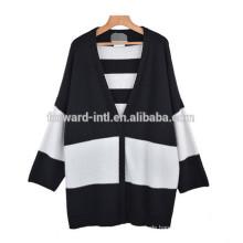 2014-2015 High Fashion Frauen V-Ausschnitt Langarm Strickjacke Pullover