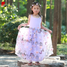 girls purple backless maxi princess dress