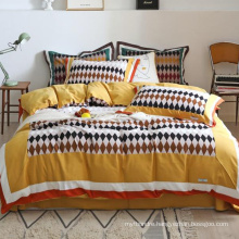 Luxury High Quality Bedding Set Cotton Brushed Fabric Comfortable for King Bed Duvet Cover
