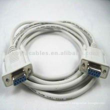 Câble d'extension série Beige DB9 femelle à femelle 3 mètres