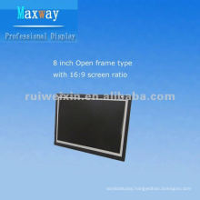 8 inch open frame lcd monitor with wide screen