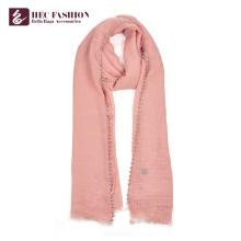 HEC Chinese Popular Günstige All Season Rosa Polyester Frauen Uniform Schal