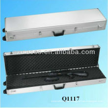 New arrival high quality aluminum rifle gun case with wheels