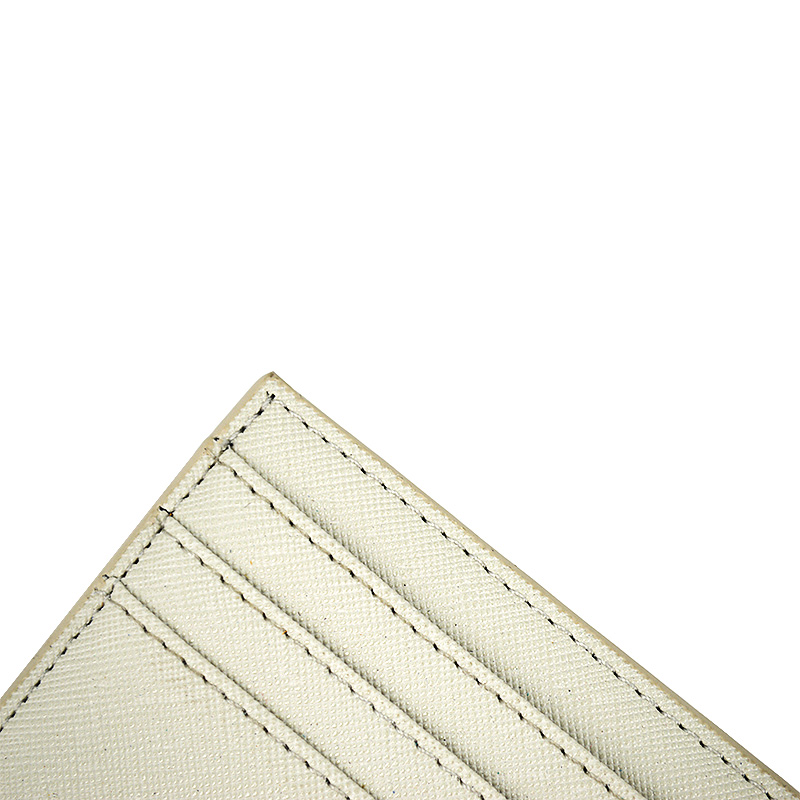 Custom Promotional Saffiano Leather Card Holder for Gift