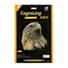 Los niños juguetes manualidades águilas oro tarjetas de rascar