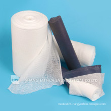 disposable 100% cotton high quality absorbent gauze roll