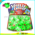 Hot Selling Novelty TPR LED Squeeze Frog Water Ball