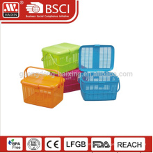 Customized usage food grade plastic vegetable picnic storage basket for sale