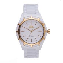 Novo design todo o relógio de senhora de quartzo cheio de cerâmica