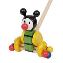 Kids Happy Animal Toys My Wooden Walking Push Along Toy