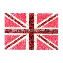 Etiqueta engomada segura del tatuaje del polvo del brillo del cuerpo de los modelos coloridos de la bandera roja