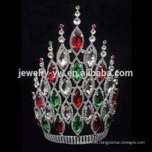 Tiara de la corona del desfile alto barato de 8 pulgadas para la venta para las mujeres