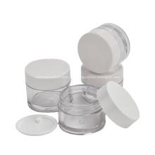 Pequeños tarros plásticos cosméticos personalizados de los envases de PETG con el tapón de rosca plástico