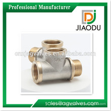 1/2 inch 3/4 Inch DN15 DN20 Female Brass/ Nickel plated /Chrome plated,nautre Yellow thread nautre Brass Tee