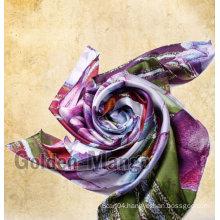 100% silk fashion fruit print silk shawl