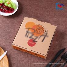 Caixa de papel ondulado alta forte personalizada da pizza do logotipo