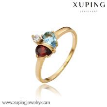 13098- Anillo de boda de lujo al por mayor de la joyería plateada oro de Xuping 18K