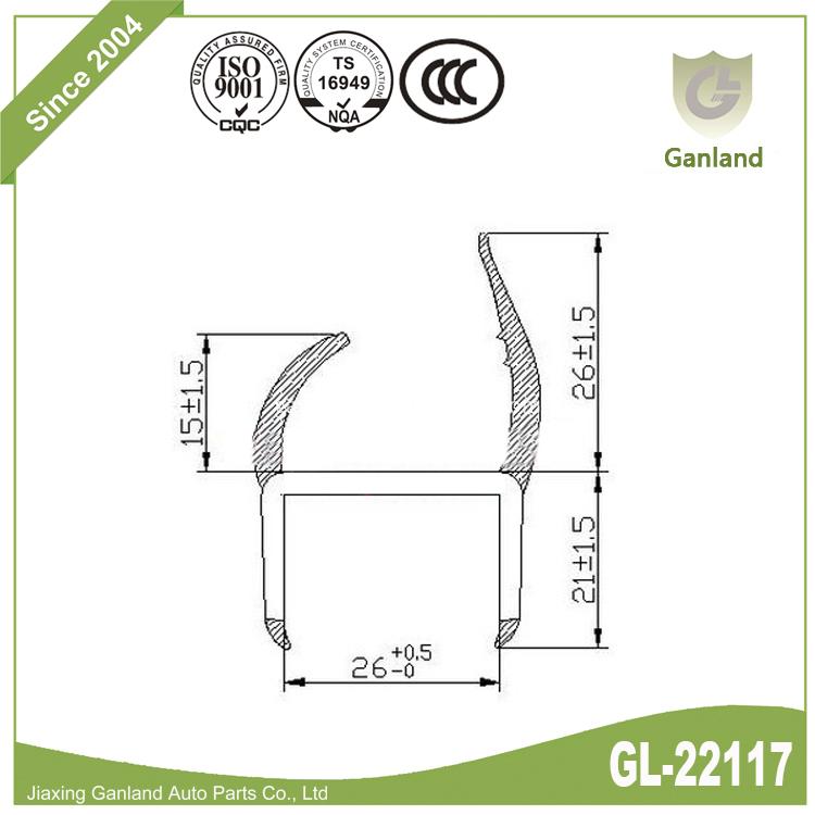 PVC Weather Strip H GL-22117