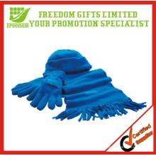 Wholsale Winter Fleece Schal Hut Handschuhe Polyester Sets