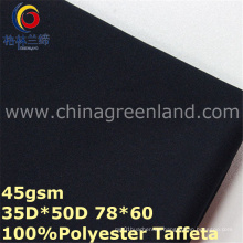 Polyester Twill Pongee Dyeing Fabric for Men′s Shirt (GLLML325)
