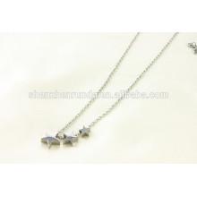 Alibaba al por mayor 2015 caliente diseño de acero inoxidable pequeño collar de estrella