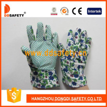 Kids Gloves with Green Dots on Palm Dgk114