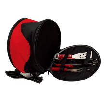 picnic set with grill oven and cooler bag
