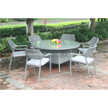 Открытый ротанга stackable стул и сад большой кд Плетеным столом