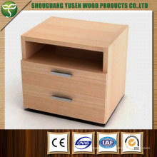 Two Drawer Wooden Furniture Wooden Bedside Table Nightstand