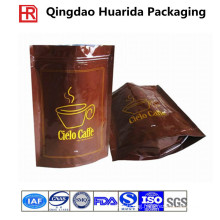 Customized Plastic Zipper Coffee Packaging Bag with Colorful Printing
