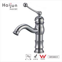 Haijun 2017 Preços por atacado Banheiro Single Handle Basin Push Down Faucet