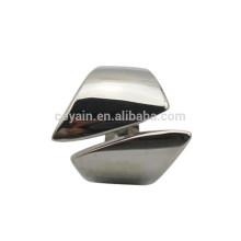 Hochwertiger Edelstahl-Silber-Stulpe-Ring für Männer