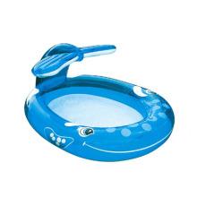 Piscinas inflables del espray de la ballena de la diversión del agua del patio trasero modificadas para requisitos particulares