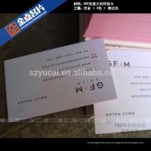Letterpress impresso papel simples modelo de cartão de visita de impressão simples impressoras