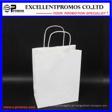 Personalizado saco de compras Kraft branco logotipo (EP-B581705)