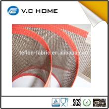 PTFE Teflon Revêtue Traitement de Surface Anti-adhérent PTFE Fibre Glass Mesh Chine Fournisseur
