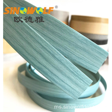 Jualan Hot Blue Wood Grain PVC Edge Banding