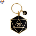 Metall Custom D20 Black Emaille Schlüsselbund