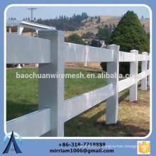High quality 2 rails, 3 rails and 4 rails white vinyl horse fence, horse fence, 3 rails horse fence