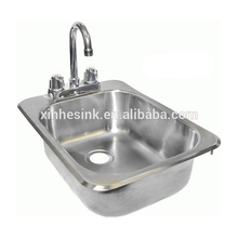 NSF Stainless Steel Hand Wash Sink with Tap Holes