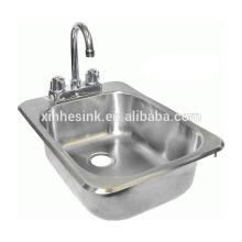 НФС нержавеющей стали для мытья рук раковина с краном отверстия