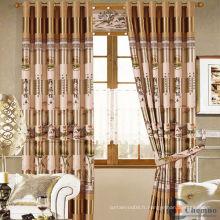 Vente chaude Royal Dernier hôtel de luxe Tissu à rideaux transparents en Inde