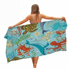 Microfiber Beach Towel, Sport Towels with Printing Underwater World Pattern