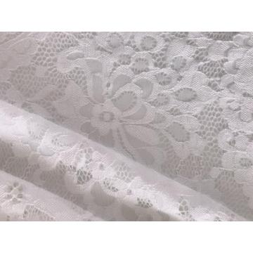 Weiße Scallopped Edge Lace